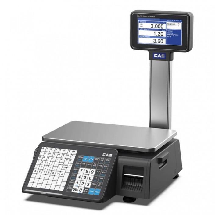 Cantar cu etichetare CAS CN1 15Kg cu display client, avizat metrologic