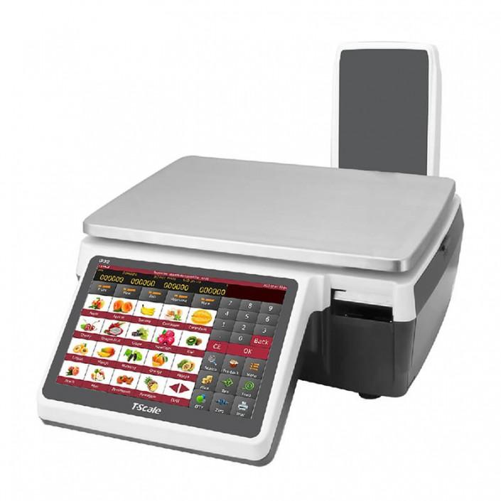 Cantar cu etichetare T-Scale IP30-15K-MR 15Kg, pentru autoservire, avizat metrologic