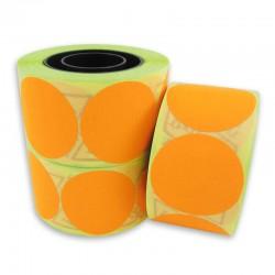 Etichete de pret rotunde, diametru 35 mm, culoare FLUO portocalie, 400 etich./rola