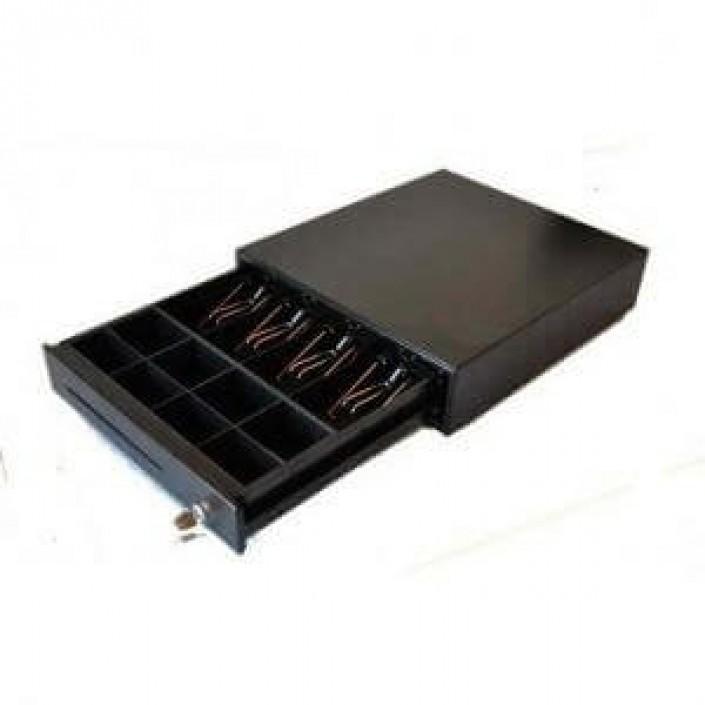 Sertar de bani EK 350 metalic, 4B/8M, 6V, negru