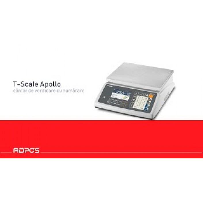 Cantar de verificare cu numarare T-Scale AW20 Apollo, 15Kg, PLU, RS232, USB, RJ45, cu verificare metrologica